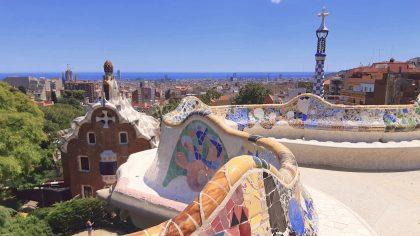 Barcelona Parc Guell mozaiek
