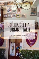 restaurant osteria del FIAT Turijn, Italie