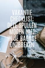 Checklist inpaklijst vakantie