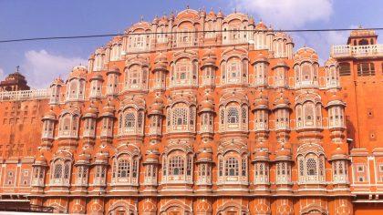 Hawa Mahal Paleis der Winden Jaipur voorkant