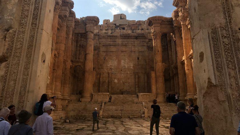 Baalbek, tempel van Bacchus, Libanon