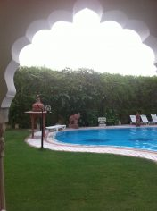 Bissau Palace Jaipur tuin