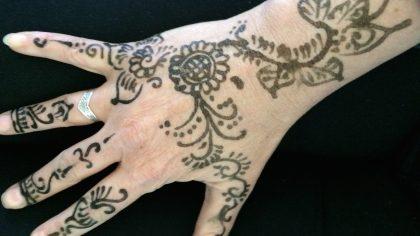 Marokko, henna tattoo