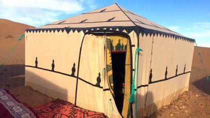 Tinfou Dunes Marokko tentenkamp