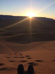 Tinfou Dunes Marokko, zonsopkomst