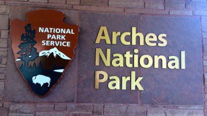 Arches NP, entrance, Amerika