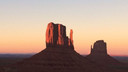 Monument Valley zonsondergang