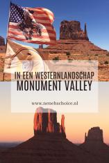 In een westernlandschap: Monument Valley