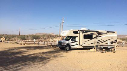 Death Valley, Beatty, camper