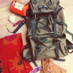 Oude backpack