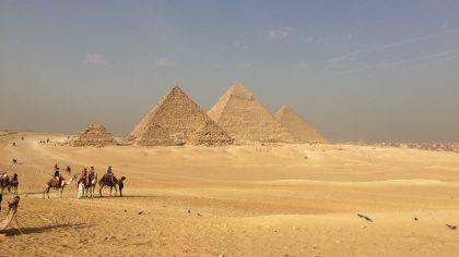 Pyramides van Gizeh, Cairo, Egypte