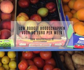 Low budget boodschappen voor 50 euro per week