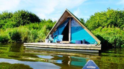 Slapen op een kampeervloet, De Heen, Noord-Brabant