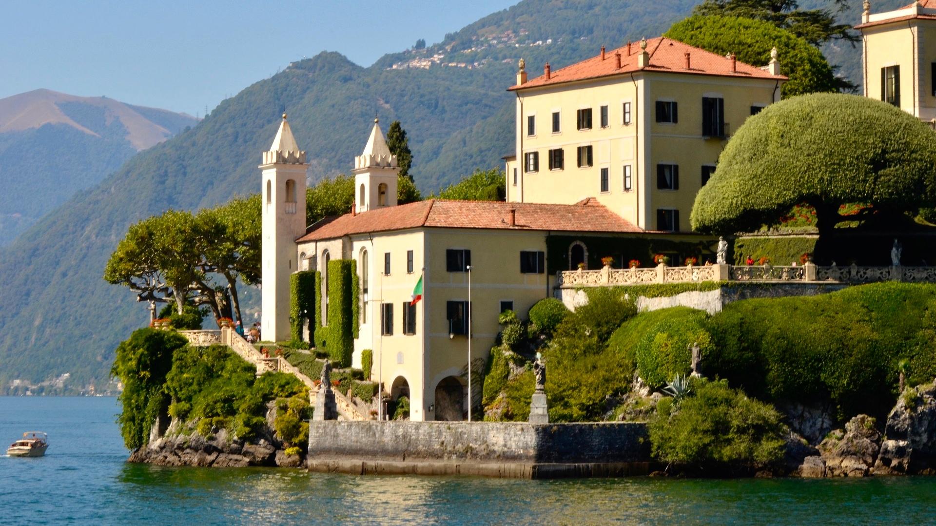 Villa Balbianello, Comomeer, Italië. Star Wars Filmlocatie
