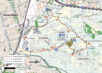 Klompenpad Stoutenburgerpad routekaart