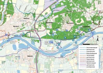 Klompenpad: het Dorenweertsepad kaart