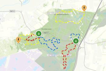 Wandelen Nationaal Park Dwingelderveld kaart