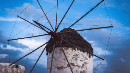 Mykonos-stad Griekenland tips en bezienswaardigheden: windmolens Mykonos