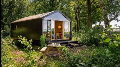 Tiny huisje van karton Gorssel, Gelderland