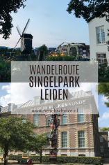 Wandelroute Singelpark Leiden, Nederland